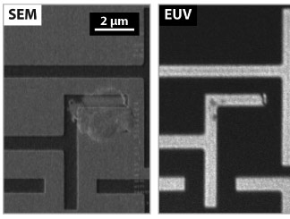 Another comparison of SEM and AIT images of an EUV photomask.