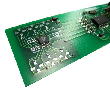 A custom circuit board developed by CXRO